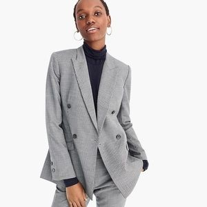 J. Crew • NWT Houndstooth Double Breasted Blazer